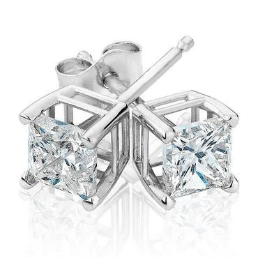 Princess Diamond Solitaire Earrings 1ctw - Item 19257294 | REEDS Jewelers