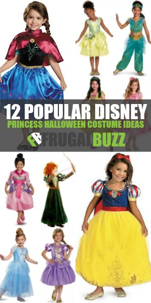 12 Popular Disney Princess Halloween Costumes Disney princess - princess halloween costume ideas