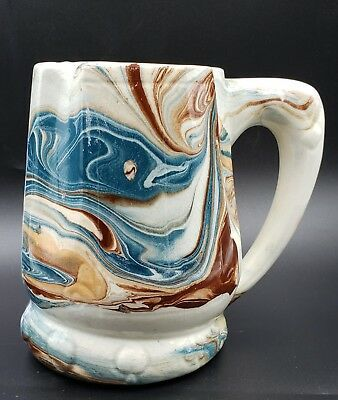 Details About Ceramic Mug Turquoise And Brown Pottery In 2020 Ceramics Ceramics Pottery Mugs Pottery