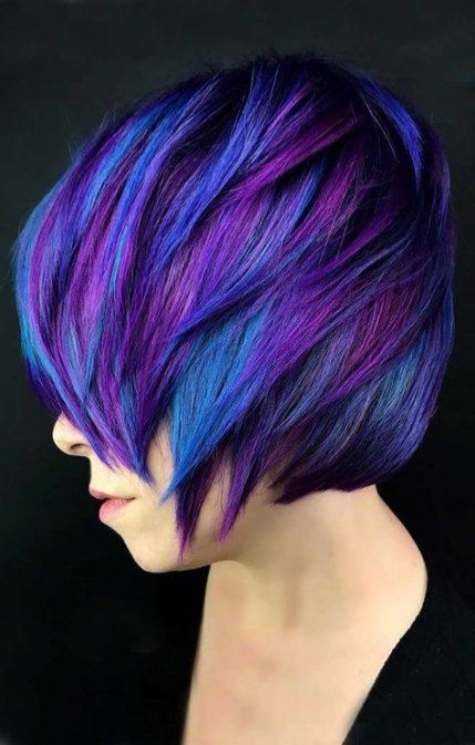 44 Ideas Hair Ombre Blue Purple Color Trends For 2019 Bright Hair Colors Cool Hair Color Short Hair Styles