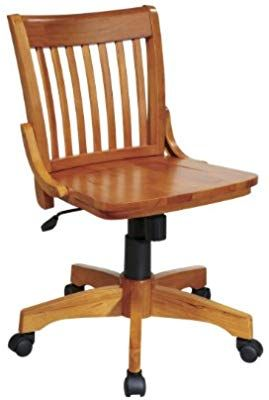 Amazon Com Office Star Deluxe Armless Wood Bankers Desk Chair With Wood Seat Fruit Wood Kitchen Wood Desk Chair Wooden Desk Chairs Bankers Chair