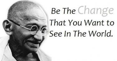 Image result for gandhi be the change