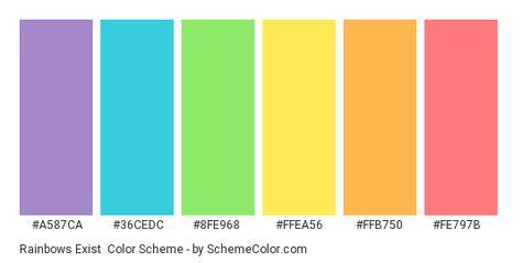 Rainbows Exist Color Scheme » Blue