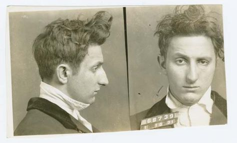Police Department, City of New York black and white mug shots of Jack Migden, alias Cuppy (1931).  Cuppy fingered Irving Penn to Parisi and Magoon the morning of July 25, 1939.