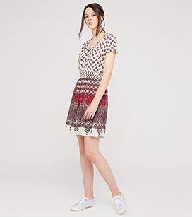 Kleid Mit Taillenbetonung In Der Farbe Cremeweiss Bei C A Robe Cintree