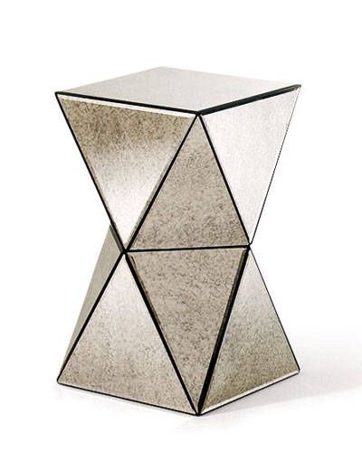 Faceted Mirror Side Table Art Interiors Interior Pinterest - West elm mirrored side table