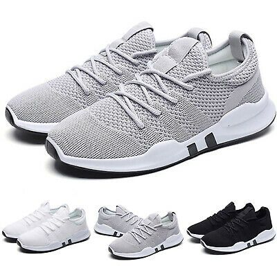 Mens Trainers Running Gym Fitness Shoes Mesh Sneakers Lace Up Breathable Size