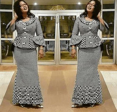 Découvrez+ de 40 dernière peplum jupe et chemisier de style Élégant Naija