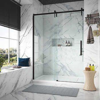 Tempered Glass Shower Door In 2020 Glass Shower Doors Shower Doors Master Bathroom Shower