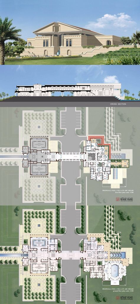 Private Palace Abu Dhabi Architectural Floor Plans Luxury House Plans Mansion Floor Plan
