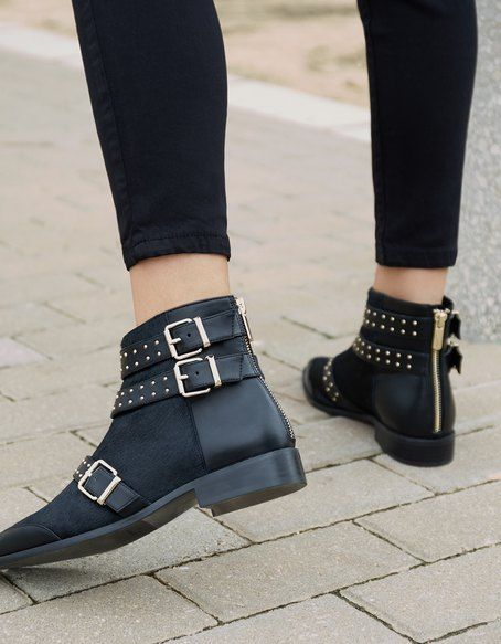 557c9dc562608 List of Pinterest stradivarius shoes 2016 ankle boots ideas ...
