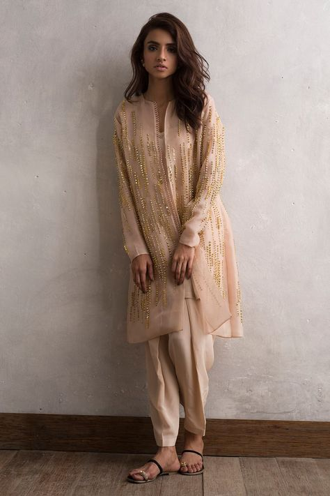 Shadow fleur brown ready to wear dress by Imrozia Premium party wear collection 2018