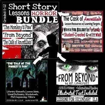 Bundle Of Fear Engaging Horror CCSS Language Arts Lessons