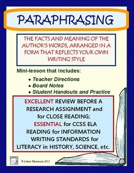 Paraphrasing Lesson And Practice Writing Standard Research Paraphrase Ai