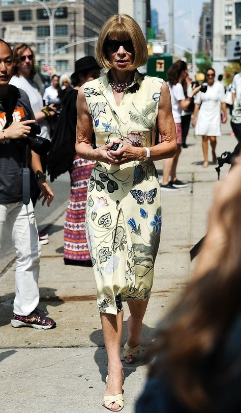 Pin for Later: All the Best Street Style From New York Fashion Week NYFW Street Style Day 2 Anna Wintour showed off her signature look outside Jason Wu.