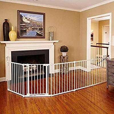 Amazon Com Toddleroo By North States 3 In 1 Metal Superyard 144 Long Extra Wide Gate Barrier Or Play Yard Extra Wide Baby Gate Wide Baby Gate Baby Gates
