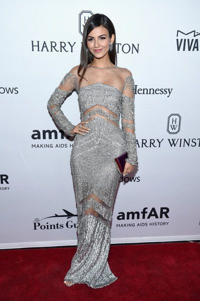 Actress Victoria Justice attends the 7th Annual amfAR Inspiration Gala New York at Skylight at Moynihan Station on June 9, 2016 in New York City.