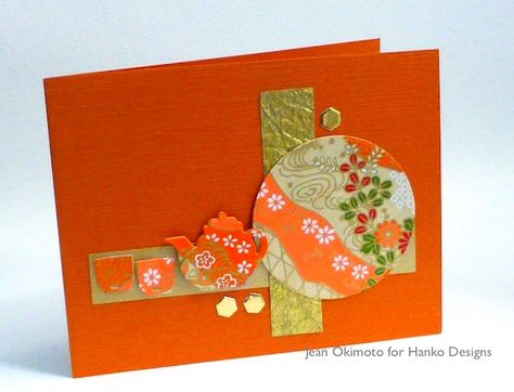 handmade card using the washi quilting technique     from