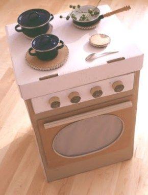 20 Nuevas Ideas para Hacer Cocinas de Cartón para niños y