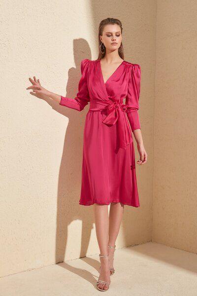 Trendyolmilla Zumrut Yesili Dugme Detayli Elbise Tprss20el1519 Trendyol 2020 Elbise Moda Stilleri The Dress
