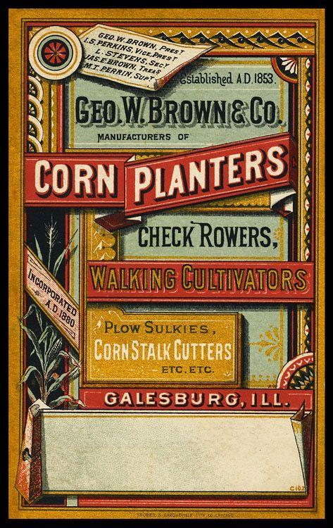 Www Sheaff Ephemera Com List Gaslight Album George W Brown Company Corn Html Vintage Typography Victorian Design Vintage Cards
