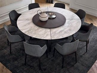 Round Marble Table With Lazy Susan Concorde Marble Table Round Dining Room Table Round Dining Room Luxury Dining Room