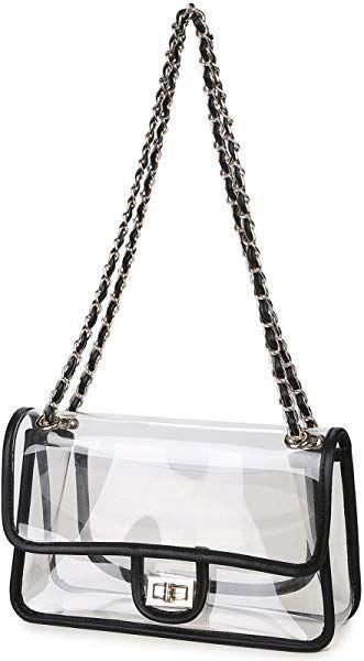 cd45363e2cf Lam Gallery Womens Clear Handbag Purses NFL Stadium Approved Clear ...