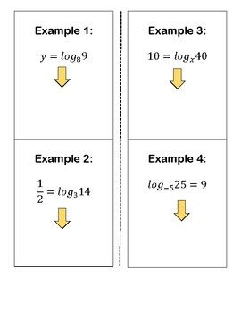 Convert Logarithm to Exponential Form INB | Interactive