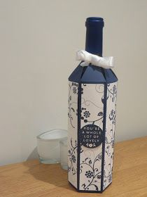 CraftyCarolineCreates: Wine Bottle Gift Box Tutorial - Using Flowering Flourished by Stampin' Up