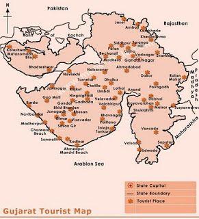 Gujarat Tourism Map Gujarat Tourism   Gujarat Tourism   Tourism, Map, Bullet journal