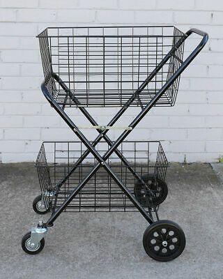 2 roues shopping caddie marché pliable Chariot de courses DESTOCKAGE PROMO