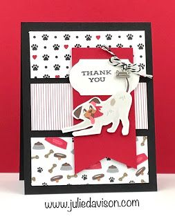 4 Vertical Triple Panel Cards With Stampin Up Dsp Playful Pets