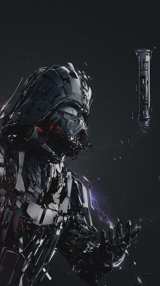 Darth Vader Digital Art Iphone 6 6 Plus Wallpaper Star