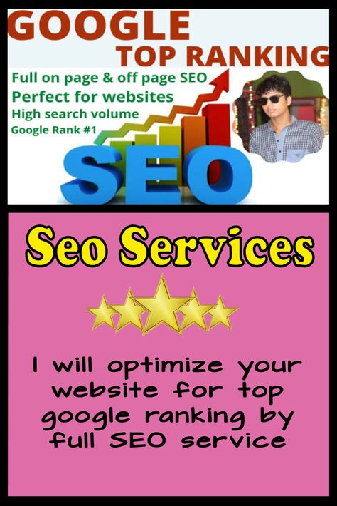 I will optimize your website for top google ranking by full SEO service