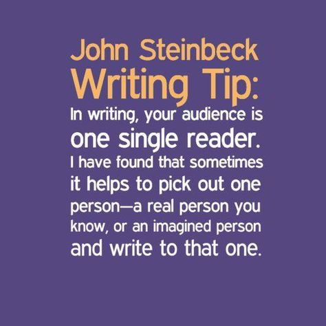 how had steinbeck prepare the reader Six tips on writing from john steinbeck  in the aching urge of the writer to convey something he feels important to the reader if the writer has that urge, he may.