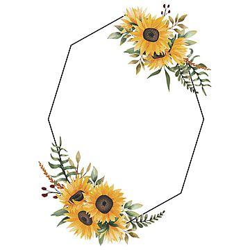 Sunflower Corner Border Design Border Design Corner Borders Flower Border