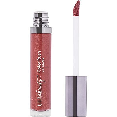 Ulta Color Rush Lip Gloss Color Carrie Deep Brownish Mauve With