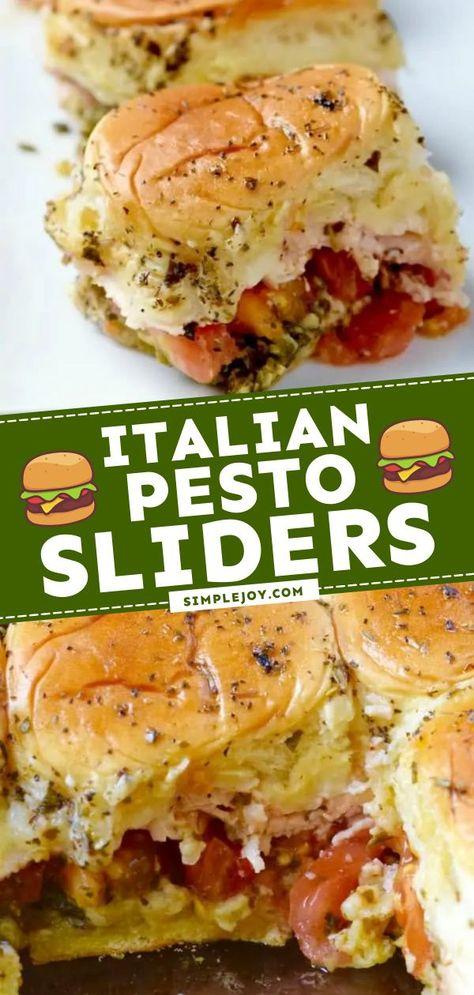 Italian Pesto Sliders