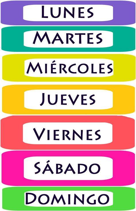 110 Ideas De Recursos Para Aprender Los Días De La Semana Y Meses Del Año Dias De La Semana Meses Del Año Educacion Infantil