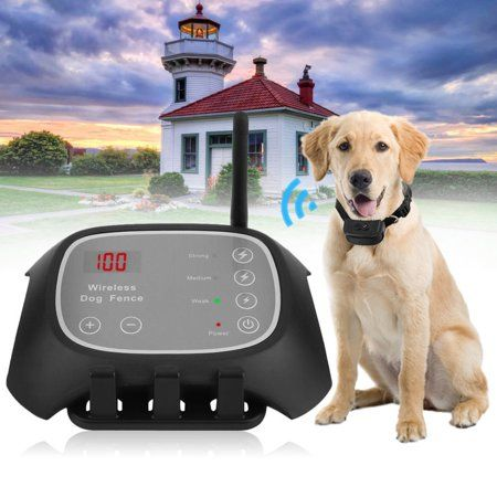 Waterproof Wireless Pet Fence Containment 1 2 3 Dog Systems Long Remote Control Distance Us Plug Black Wireless Dog Fence Dog Fence Fence Design