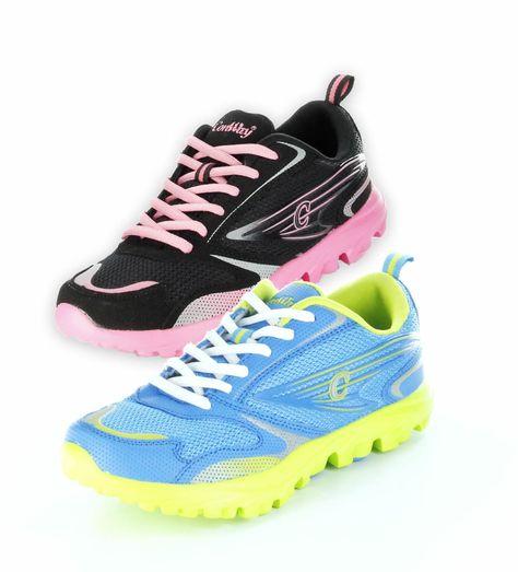 Ein Städtetrip, ein langer Spaziergang, oder ein Waldlauf, egal was Sie vorhaben, dieser flippige Schuh von ConWay ist Ihr treuer Begleiter in jeder Lebenslage. ConWay, Damen Sportschuhe – Dallas – schwarz & blau; Jetzt in 360° Ansicht, nur bei PLAZA51!