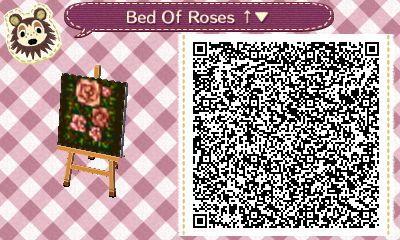 Pixel Rose Designs Qr Codes Animal Crossing Acnl Paths Qr Codes Animals