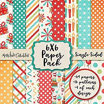 6x6 Pattern Paper Pack Birthday Party Card Making Scrapbook