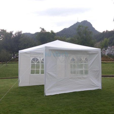 Zimtown 10 X10 Foldable Canopy Party Wedding Tent Gazebo Pavilion Shelter With 3 Removable Sidewalls Backyardweddings Gazebo Backyard Backyard Wedding
