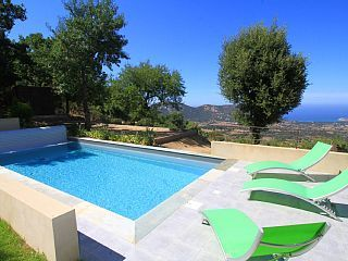 Villa With Heated Pool And Sea View In Balagne . Holiday Villa For Rent With  The