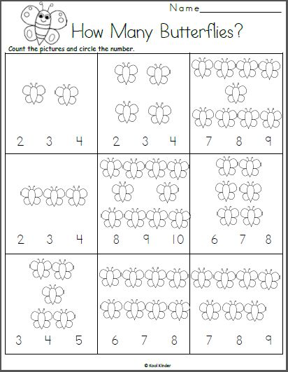 Butterfly Math Adding Worksheet Printable Spring Math Worksheets Preschool Math Worksheets Kindergarten Math Counting