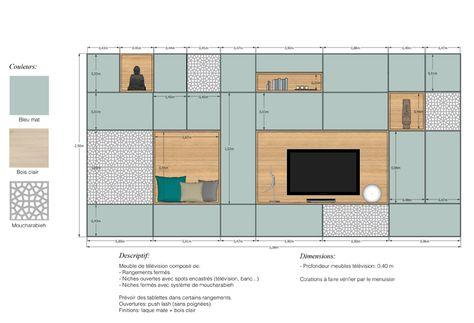 mur tv couleurs façades, niches, moucharabieh
