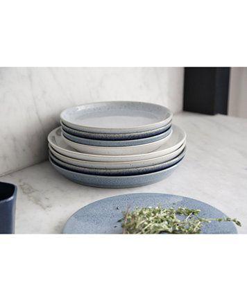 Denby Studio Blue Dinnerware Collection Reviews Dinnerware Dining Macy S Dinner Plates Sets Blue Blue Dinnerware Dinner Plate Sets