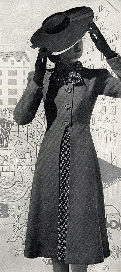 1940s Era Feminine Ladies Jacket Coat Fashion Vintage Outfits Fashion History