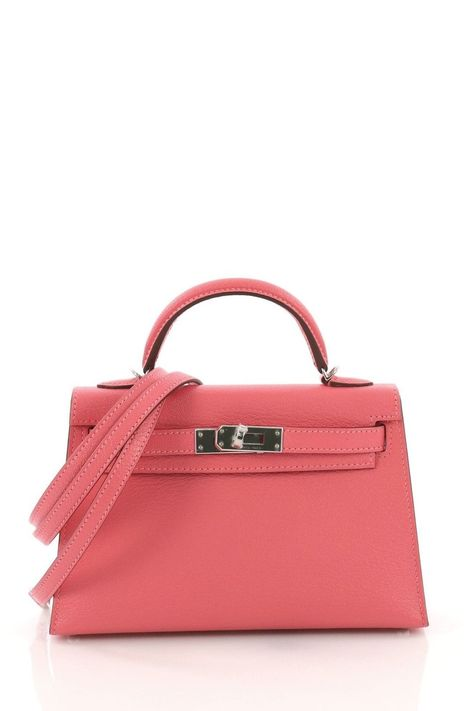 c4073b65b224 Hermes Kelly Mini II Handbag Rose Lipstick Chevre Mysore with Palladium  Hardware. This Hermes Kelly
